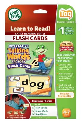 Leapreader - Interactive Talking Words Factory Flash Cards - LeapFrog