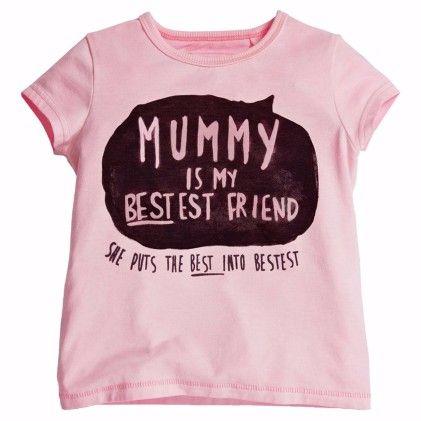 Pink Mummy Is My Best Friend Print Tshirt - Lil Mantra