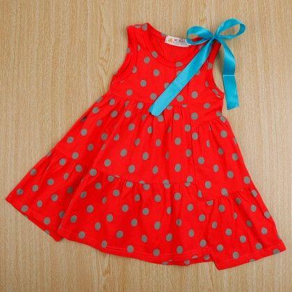 Cute Red Polka Dot Dress - Boat