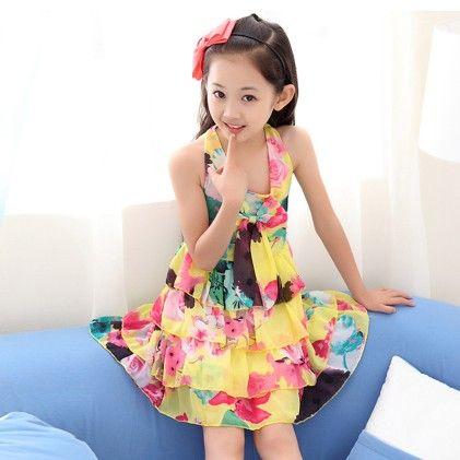 Party Sleeveless Lace Chiffon Dress - Tulip