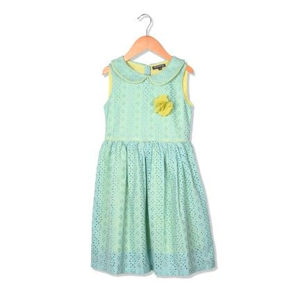 Beautiful Light Blue Color Embroidered Fabric Dress - Sequences Clothing