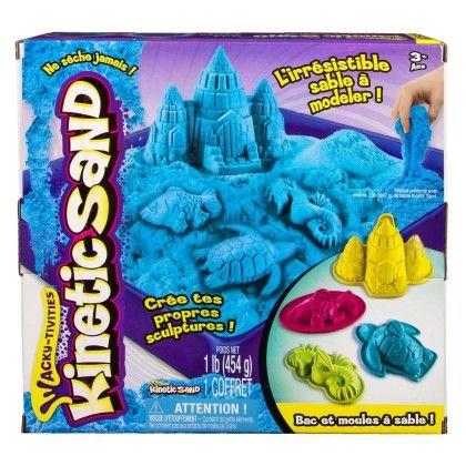 Kinetic Sand Box And Molds Set - Blue
