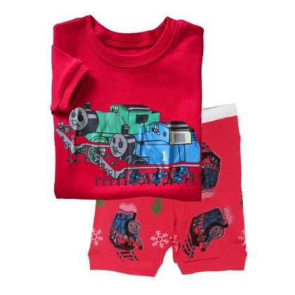 Red Thomas The Train Print T-shirt & Short Set - Lil Mantra