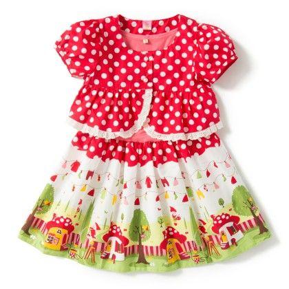 Red Dress With Coat - De Berry