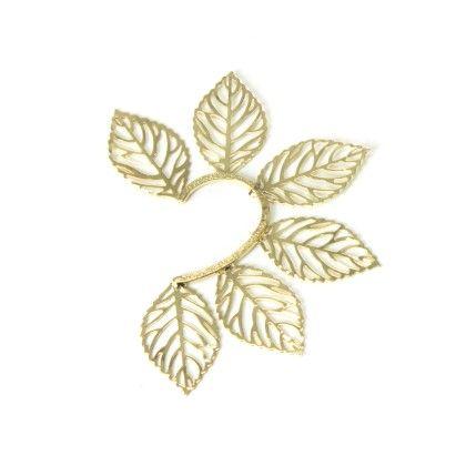 Gold Leaf Ear Cuff - Jazz Fashions