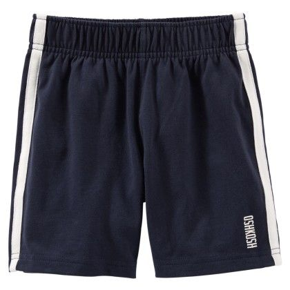 Jsy Short W Side Tape Ind Navy - OshKosh B'gosh