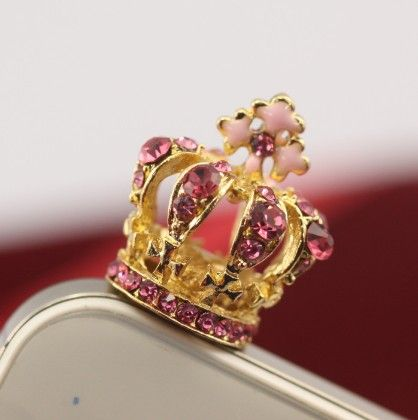 Crown Queen Pink Mobile Dust Plug - Flaunt Chic