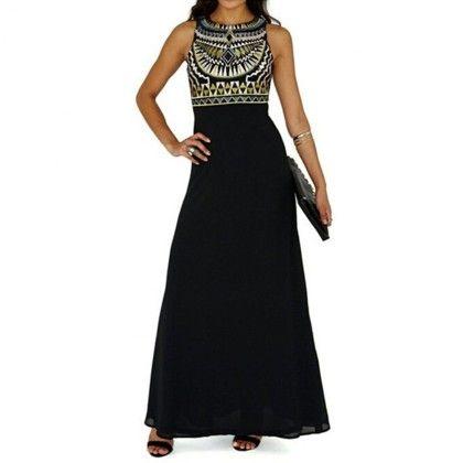 Black Sleevless Long Dress - Dell's World
