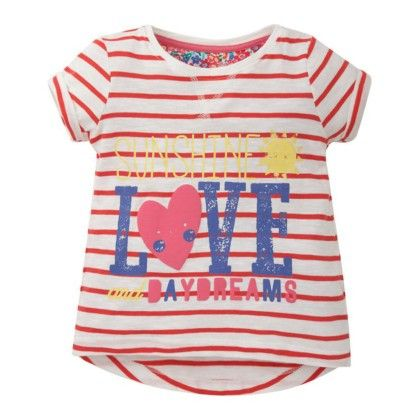 Cute Pink Printed Striped T-shirt - Jumping Baby