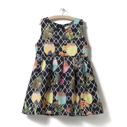 Black Dress With Mixed Print - ChipChop