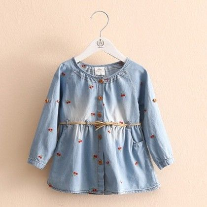 Denim Tunic With Embroidery - Mauve Collection