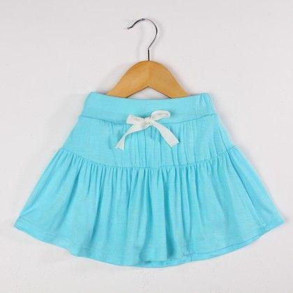 Girl's Casual Skirt- Blue - HZ House