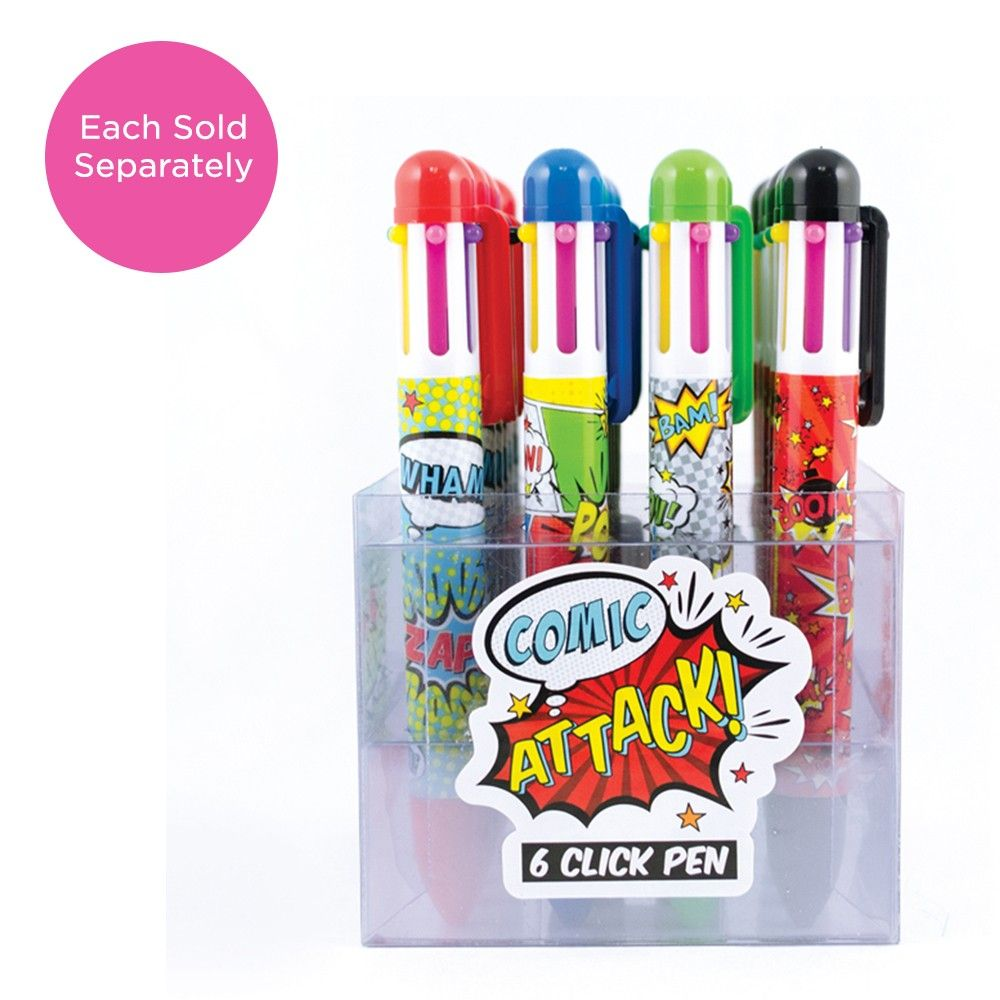 Click Ink Pen Comic Attack Display - International Arrivals