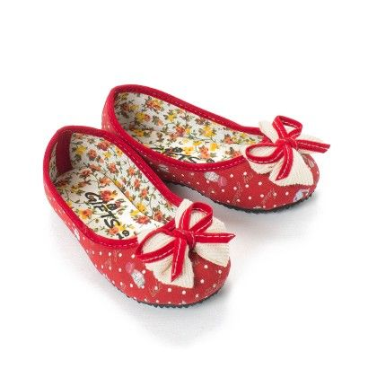 Red Polka Print Bellies  Infant - Gift Shoes