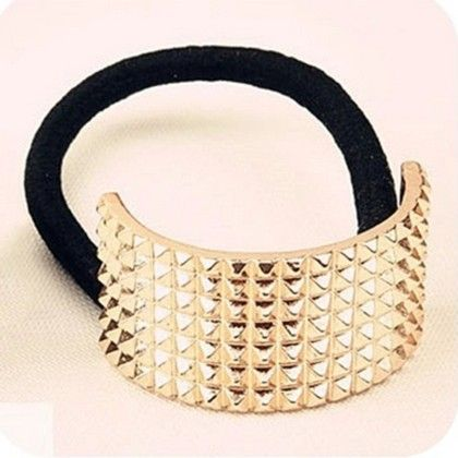 Gold Pony Hair Tie - Flaunt Chic