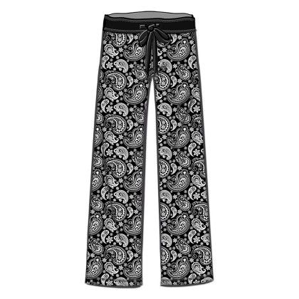 Paisley Printed Long Pant - Rene Rofe