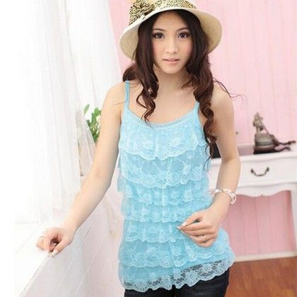 Loose Casual Lace Sleeveless Top - STUPA FASHION