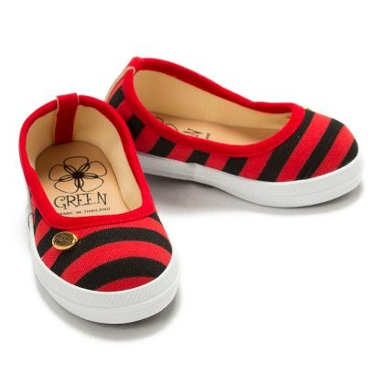 Red And Black Stripe Bellies - Toddler - Green