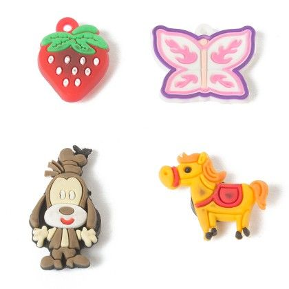 Set Of 4 Tiny Magnets (horse Strawberry Butterfly Dog - It's All About Me