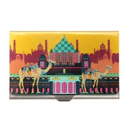 Steel Card Holder Indian Caravan Serai - The Elephant Company