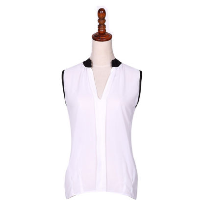 Sleeveless White Casual Top - Dell's World