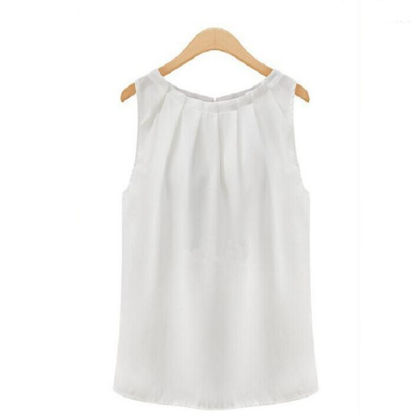 Pleated White Top - Dell's World