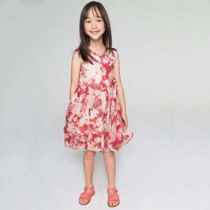 Red Abstract Fit & Flare Dress & Headband - Toddler & Girls - Yo Baby