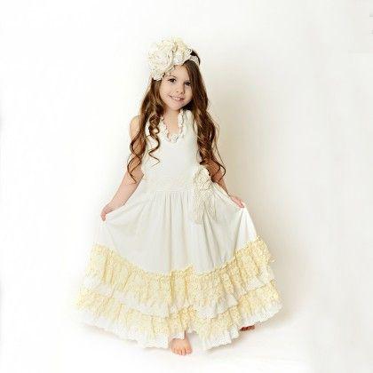 Ivory Lace Ruffles Dress - Oopsie Daisy