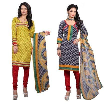 Dual Concept Of Cotton Jacquard Top With Matching Dupatta-2 Top  & 1 Bottom & 1 Duaptta - Varanga