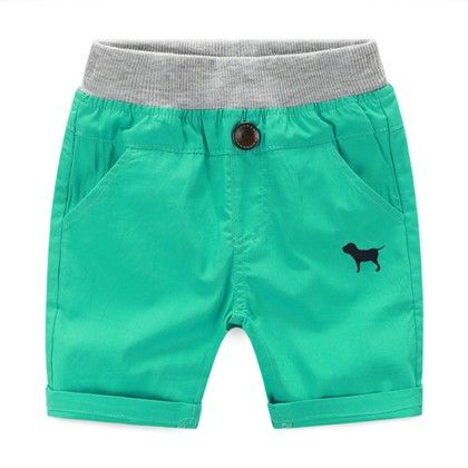 Trendy And Cute Summer Shorts For Boys  - Green - Mauve Collection