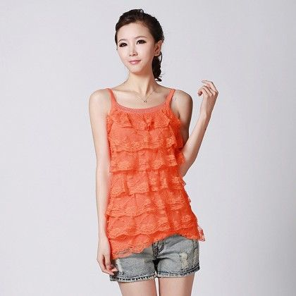 Loose Casual Lace Sleeveless Top - STUPA FASHION - 318786