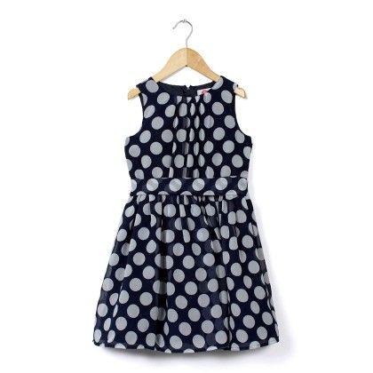 Blue And White Polka Dot Dress - Cranberry Club