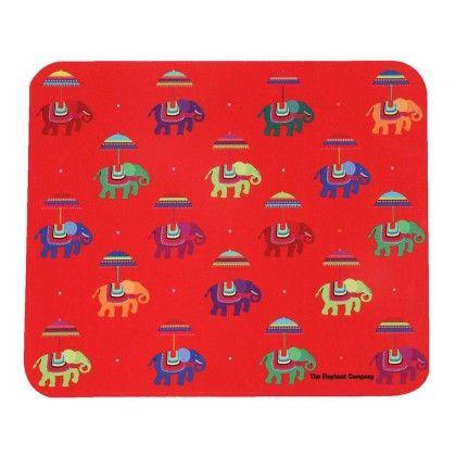Mousepad Red Flying Elephants - The Elephant Company