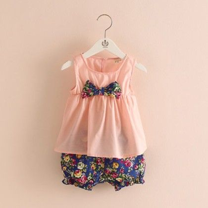 Pink Shirt And Printed Pants - Mauve Collection
