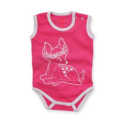 Sleeveless Bodysuit Gazelle - Fuchsia - Baby Corner