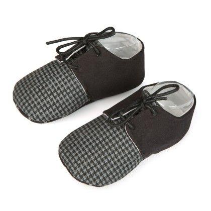 Lace Up Unisex Shoes - Black - Jute Baby