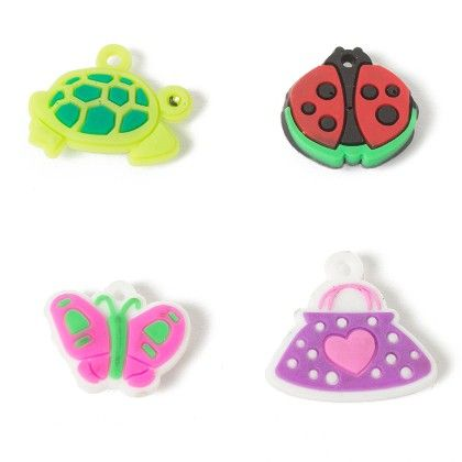 Set Of 4 Tiny Magnets (tortoise-ladybug-butterfly-purse) - It's All About Me