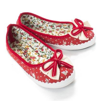 Red Polka Print Bellies - Gift Shoes