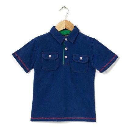 2 Pockets Polo Royal Blue T Shirt - COOL QUOTIENT