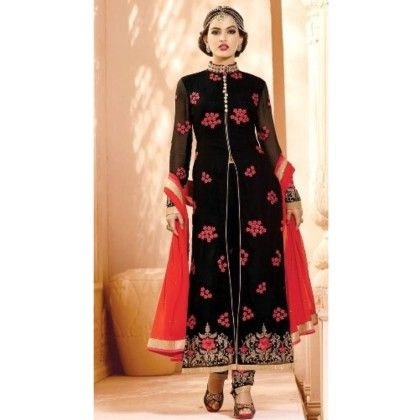 Black Ethenic Wear With Suit And Skirt - Balloono