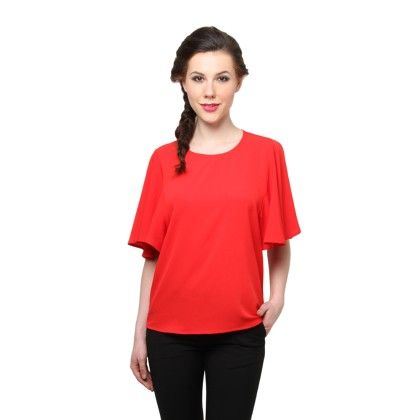 Red Bell Sleeves Top - XNY