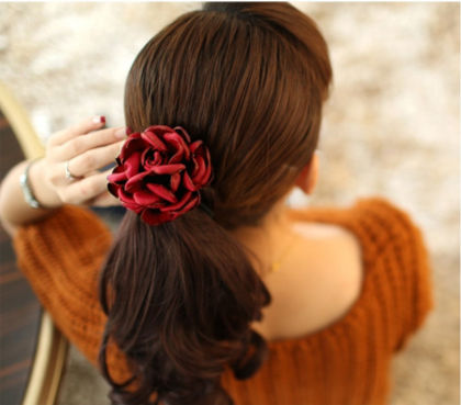 Rose Hair Tie-red - My Fair Lady