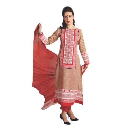 Exclusive Dress Material With All Over Front And Back Multi Design Print With Printed Dupatta - Varanga