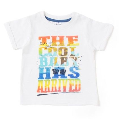 The Cool Bird Has Arrived Printed Whited T-shirt - Ollypop