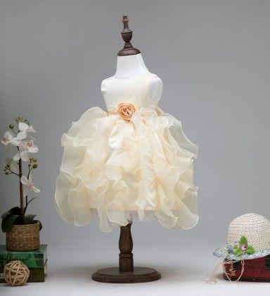 Beautiful Off White Princess Dress - Off White - Yime