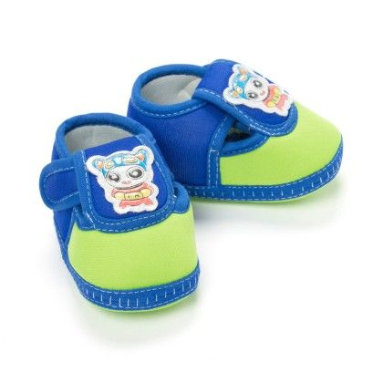 Cute Baby Booties In Blue And Green - Bubbles