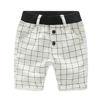 Trendy And Cute Summer Shorts For Boys  - White - Mauve Collection