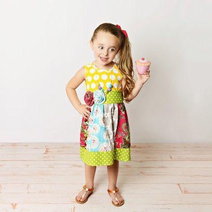 Yellow Polka Dot Dress With Headband - Oopsie Daisy