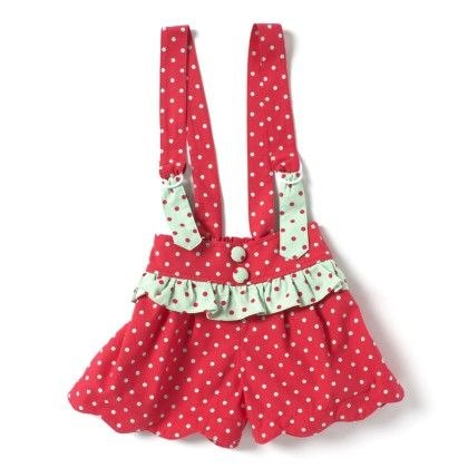 Toddler Cotton Jumper-polka Print- Red & Green - De Berry