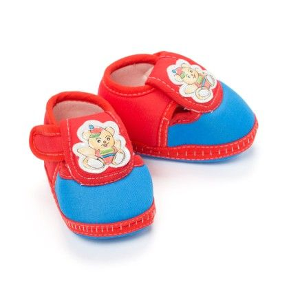 Cute Baby Booties In Red And Blue - Bubbles